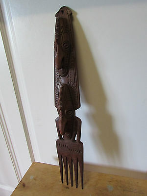 PNG vintage tourist ware carved comb
