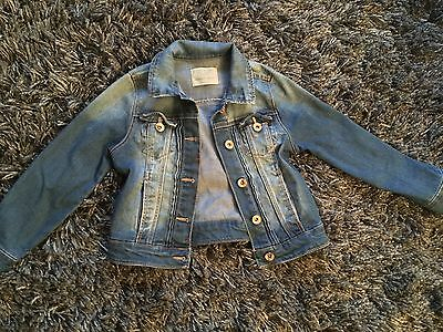 ZARA Girls Jean Jacket Smart Trendy Age 6/7 Years Excellent Condition