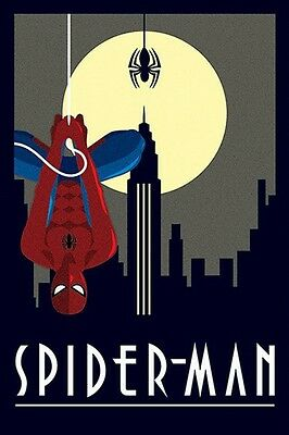 "Marvel Comics Spiderman Poster ""deco"" Licensed ""brand New"" Spider-Man"