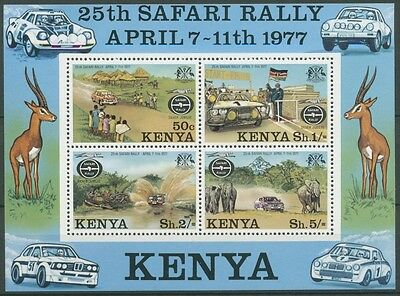 Kenia 1977 Safari-Ralley Ford Escort Toyote Elefant Block 6 postfrisch (C23156)