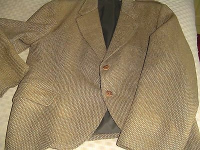Vintage Tweed Kilt Jacket with Stag Horn Buttons 42