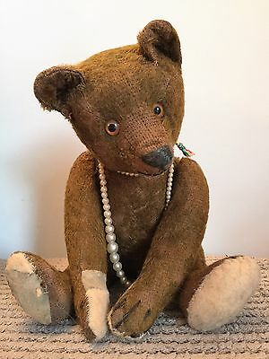 Mrs Betty - Rare Colour- Brown 1900's Bing Teddy Bear {Old Antique Vintage Hump}