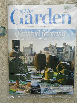 Rhs The Garden Magazine December 2016 Topiary Sculpture Poinsettia New & Sealed
