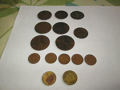 selection of british coins