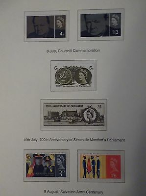 1965 Great british stamps, collectors, hobby ,home,dealers mint condition stamps