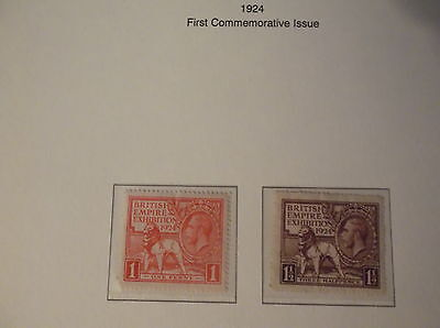 First Commemorative 1924 Great british stamps, collectors, hobby ,home, dealers