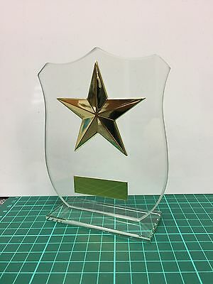 Gold Star,Glass,Multisport,Dance Trophy,120mm,FREE Engraving (CR15079A)cl
