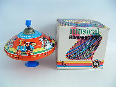 "CHAD VALLEY Musical Humming Top (Spinning) ""Merry-Go-Round"" Tinplate *EXCELLENT*"