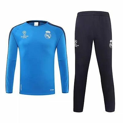 Real Madrid Football Presentation Tracksuit -Adult Children Kids Soccer Training