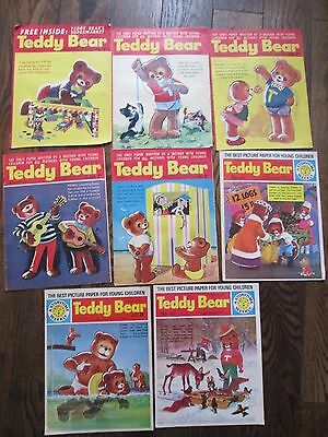 8 X Vintage Teddy Bear Comics 1967-1973   A Storytime Weekly