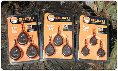 Guru Square / Pear Leads - All The Sizes (3 Pack)