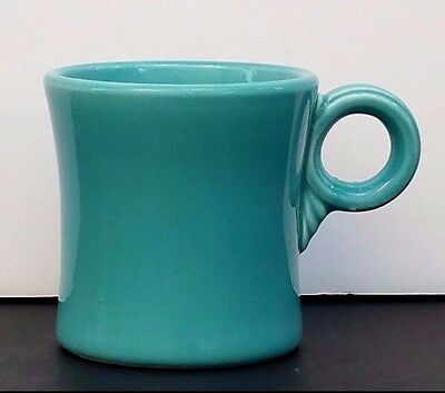 "VINTAGE FIESTAWARE 1950s Turquoise TOM & JERRY MUG Cup Homer Laughlin Co 3"" VG"