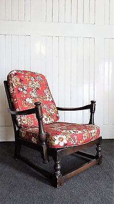 Antique Vintage carved ERCOL relaxer arm chair / armchair