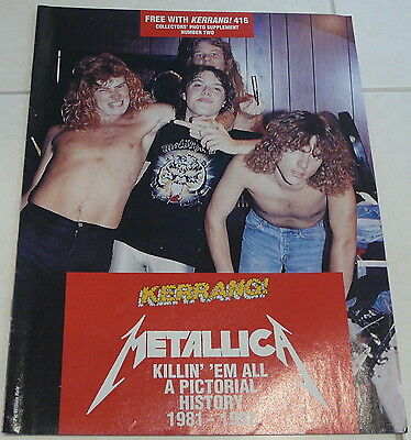 Kerrang 16 Page Pull Out -  Metallica