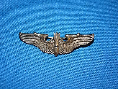 """WWII Sterling AAF BOMBARDIER WINGS, 2"""" PB, Old Collection Fresh (#8)"""