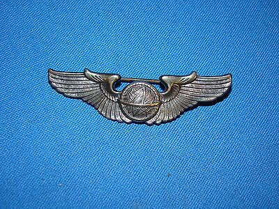 """WWII Sterling AAF NAVIGATOR WINGS, 2"""" PB, Old Collection Fresh (#9)"""