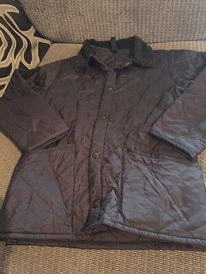 Barbour Jacket Age 4/5 Years XS Navy