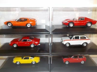 Abarth Model Car Collection 1:43 Scale  With free Display Case