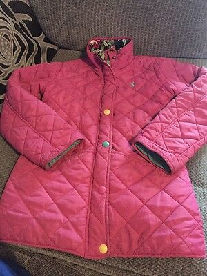 Joules Jacket Pink Age 11/12 Years Size 6-8