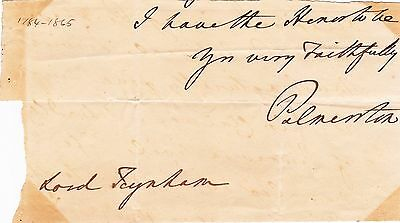 Prime Minister Lord Palmerston Autograph