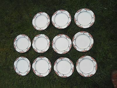 """Set Of 11 Crown Ducal Ware Orange Tree Plates 8"""" NO CHIPS OR FADING RD DESIGN"""