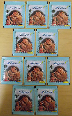 Disney Moana ~ Panini Sticker Collection ~ 10 x Sealed Packs = 50 Stickers