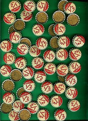 "70 Vintage Cork Bottle Caps ""special Half Price""  Soda Or Beer  1940's Or 1950's"