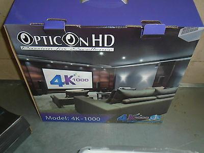 Opticon Hd Model 4K-1000 Projector And Hd Screen New In Boxes