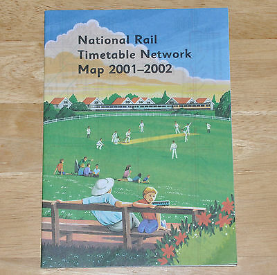 National Rail Timetable Network Map 2001-2002