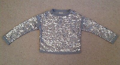 BNWOT Girls Grey Sparkly Glitter Sweatshirt By Next Age 9years