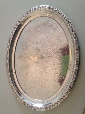 Pretty Vintage Silver Plated Serving Tray