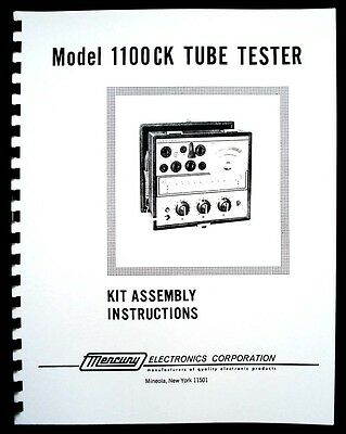 Mercury 1100CK Tube Tester  Assembly Manual