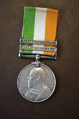 Kings South Africa Medal - Boer War - Cavalry - 2nd Dragoons