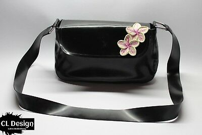 CL Design Latex Messenger Bag Flower Handtasche Rubber Bag Tasche Accessoire