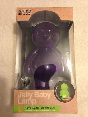 Jelly Baby Lamp Night Light Purple BNIB