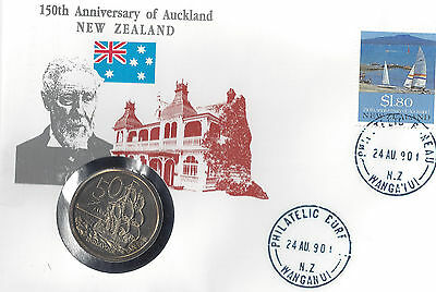 Numisbrief  150th Anniversary of Auckland  (1346)