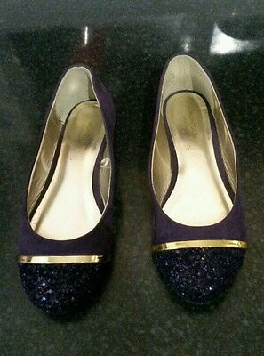 Monsoon Girls Purple Party Shoes - Size 2