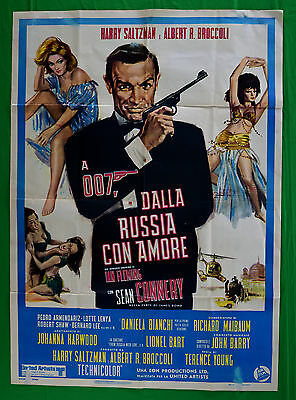 M41 Manifesto 2F Agente 007 James Bond Dalla Russia Con Amore Connery