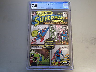 80 Page Giant Superman Annual #1 CGC 7.0 COMIC BOOK 1964