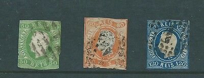 Portugal 1866 (3 stamps, SG 41, 43 and 46)