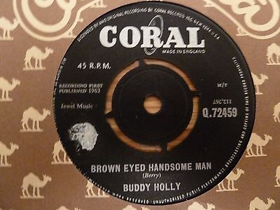 "Buddy Holly - Brown Eyed Handsome Man / Slippin And Slidin. 7"" Single"
