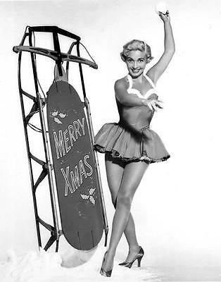 Jane Powell Merry Christmas  Leggy Cheesecake  8X10 Photo D2