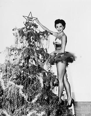 Cyd Charisse Christmas   Leggy Cheesecake  8X10 Photo 5793