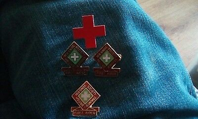 British Red Cross First Aider badges