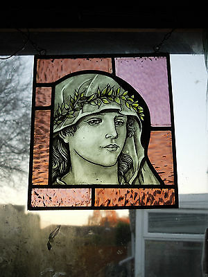 Victorian/Edwardian Stained Glass Panel.