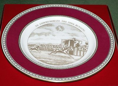 Horse Racing  Plate The Oaks Limited Edition Caverswall  Porcelain