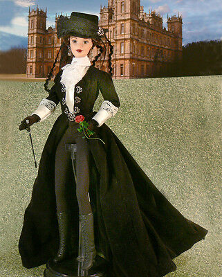 DOWNTON ABBEY Lady Mary Crawley OOAK DOLL Riding to the Hounds with Kemal Pamuk