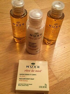 NUXE PARIS gift set. Cleansing gel, shampoo, body lotion, soap. Brand new