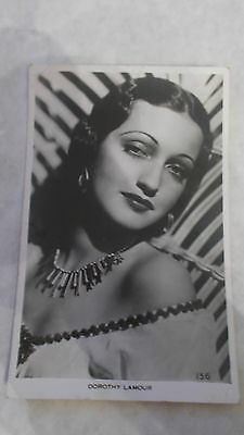 Vintage Postcard Of Famous Actress Dorothy Lamour