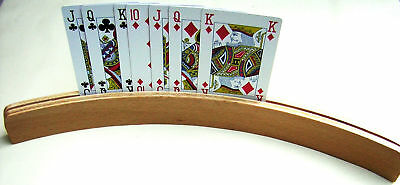 Playing Cards Holders. Wooden. . Set Of Two.  New.
